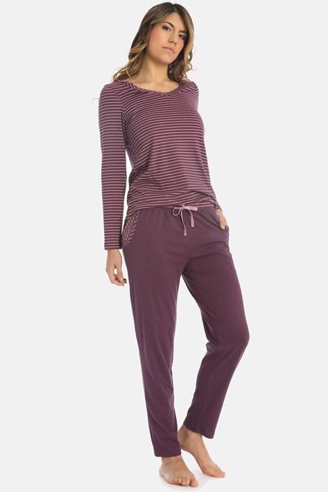 Sassa Dámské pyžamo Lovely winter fialová 46
