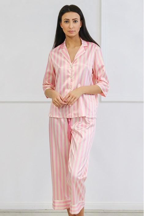 Ashley szatén pizsama, hosszú