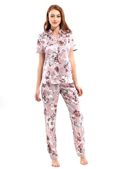 Blackspade Luxusní pyžamový komplet Daniella růžová XL