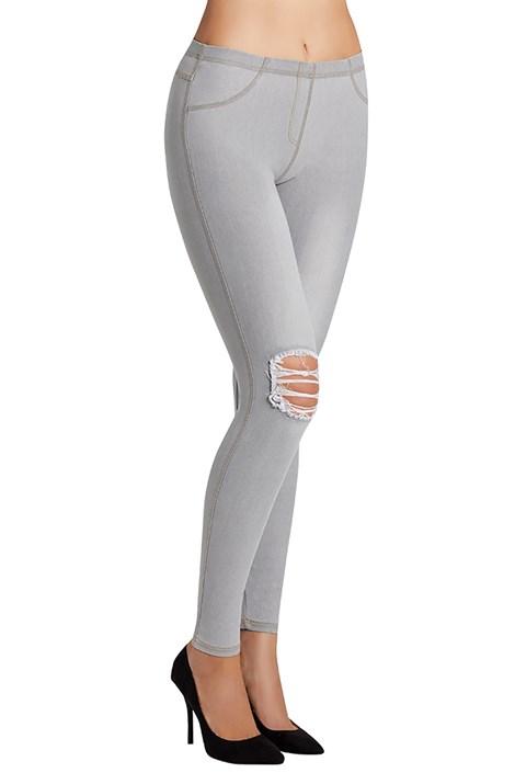 Ysabel Mora Dámské legíny Carlita v džínovém designu šedá M