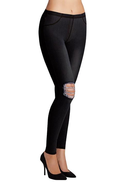 Ysabel Mora Dámské legíny Carlita v džínovém designu černá L