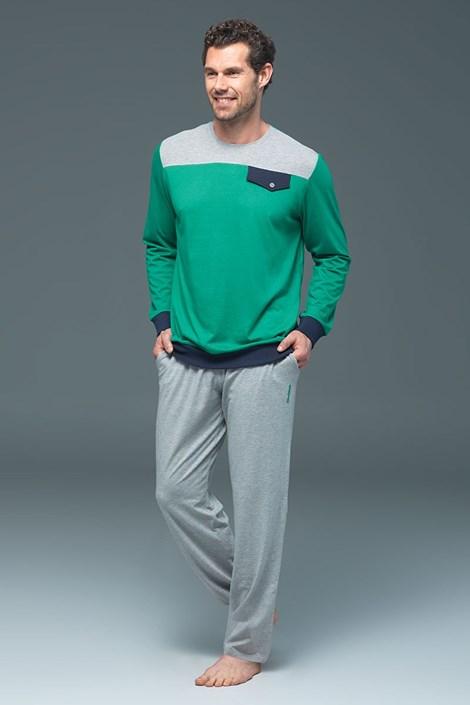Blackspade Pánské pyžamo BLACKSPADE 7390 modalové zelená S