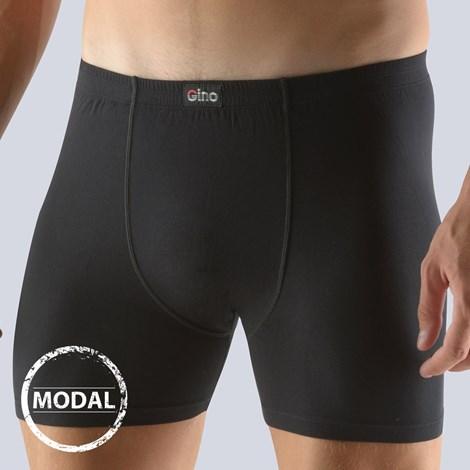 GINO Pánské boxerky GINO Modal delší černé černá XL/XXL
