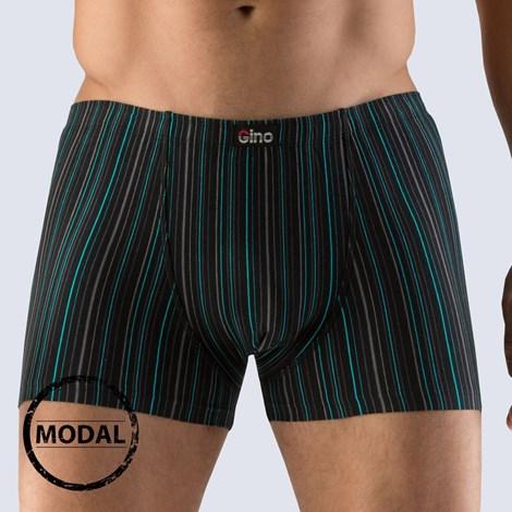 GINO Pánské boxerky GINO Modal Stripes černá XL/XXL