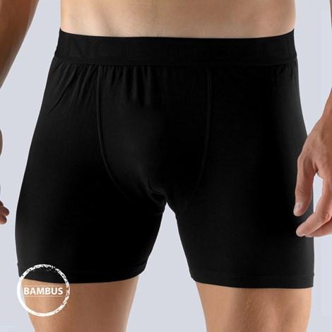 GINO Pánské boxerky Bamboo černé černá M/L