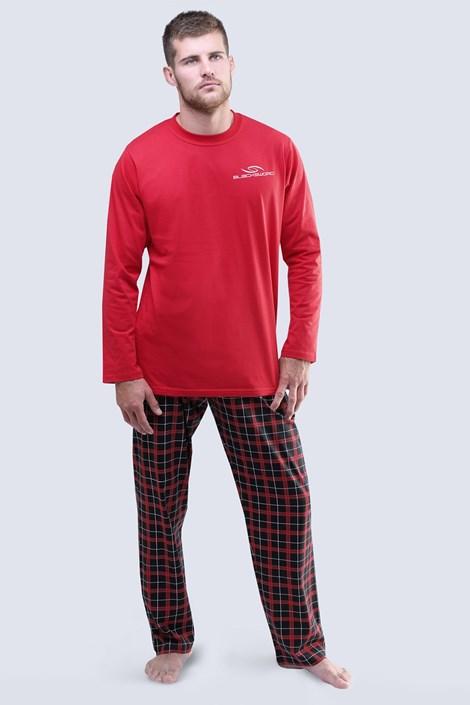 Gina Pánské pyžamo Blacksword dlouhé červená XL