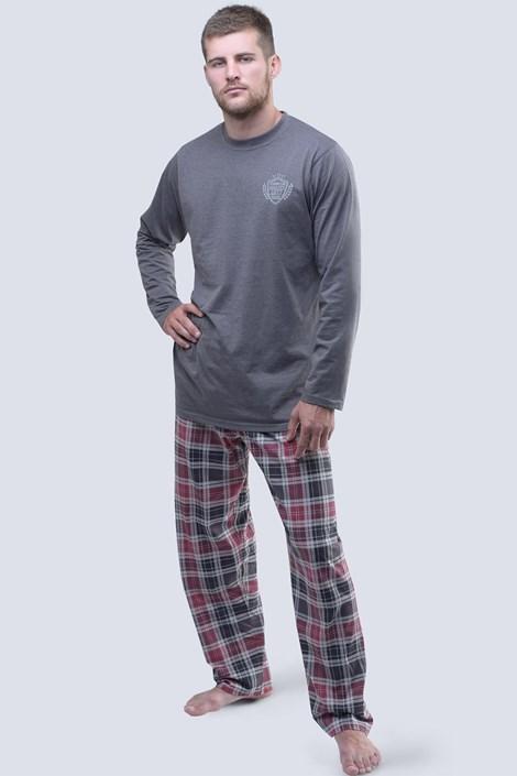 Gina Pánské pyžamo 1977 dlouhé tmavěšedá M