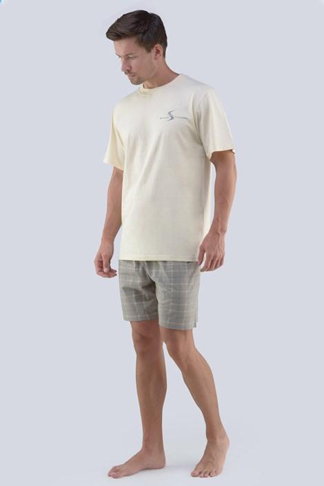 GINO Pánské pyžamo GINO Albert písková XL