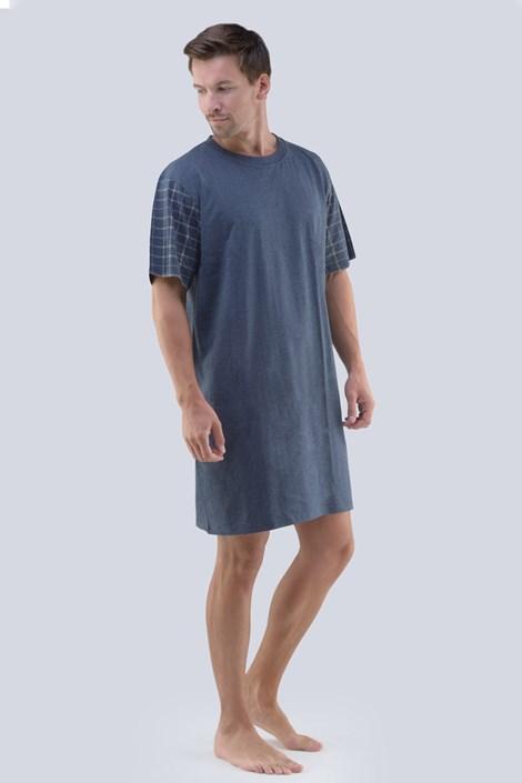 GINO Pánská noční košile GINO Martin tmavěšedá XXL
