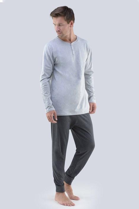 GINO Pánské pyžamo GINO Tomáš šedá L