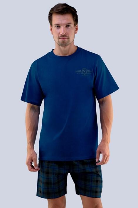 GINO Pánské pyžamo GINO Erik modrošedá 4XL