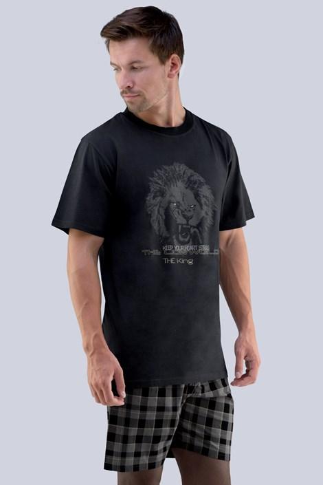 GINO Pánské pyžamo GINO Mirek šedočerná XL