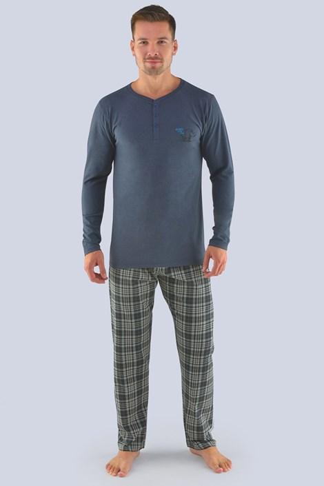 Pijama barbateasca gri, maneca lunga