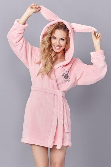 L -  L Dámský župan Sweet Pink růžová M