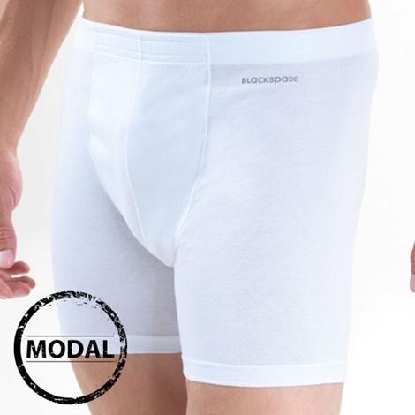 Blackspade Pánské boxerky Blackspade Comfort modal bílá M