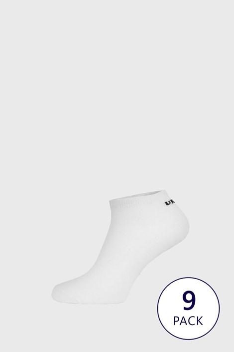 9 PACK bílých kotníkových ponožek Umbro