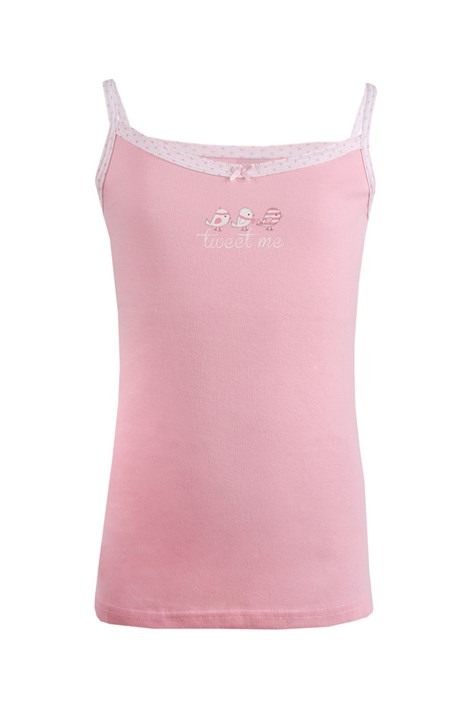 Cotonella Dívčí spodní košilka Birds růžová 8