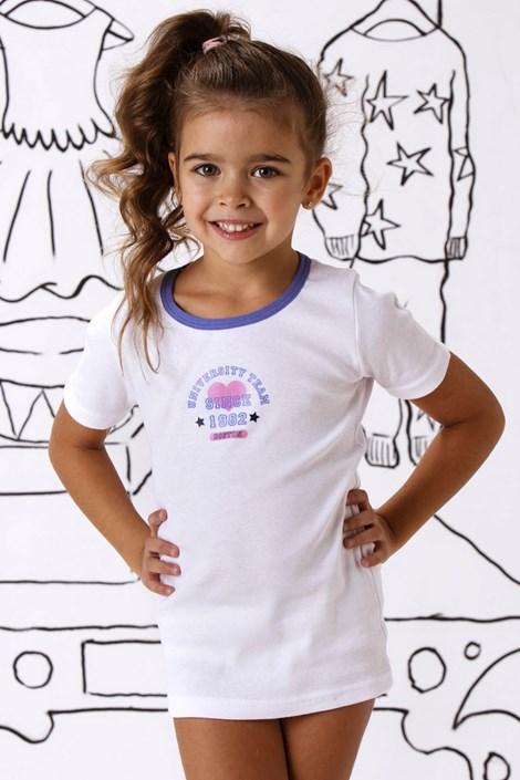 COTONELLA Dívčí bavlněné triko Julie bílá 8