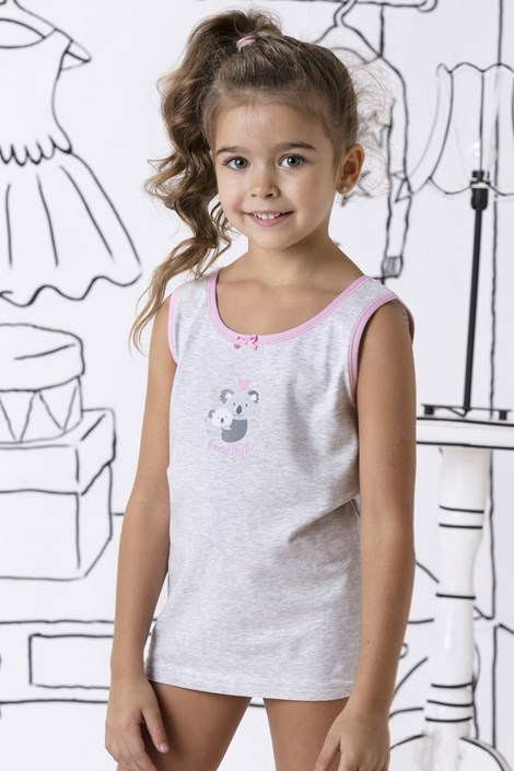 COTONELLA Dívčí spodní košilka bavlněná Lily šedá 10