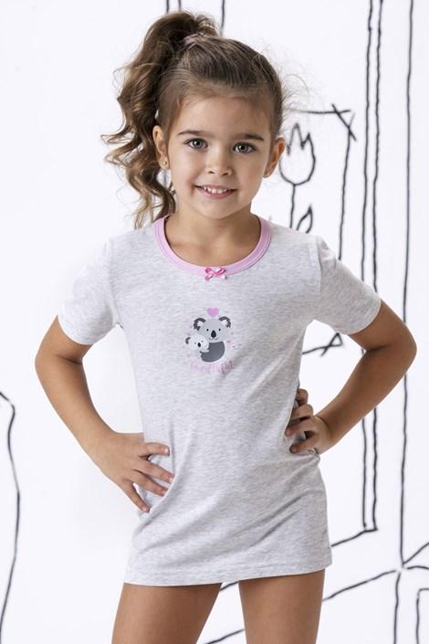 COTONELLA Dívčí bavlněné tričko Emily šedá 4