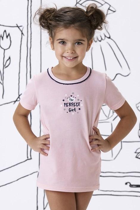COTONELLA Dívčí bavlněné triko Mary růžová 8