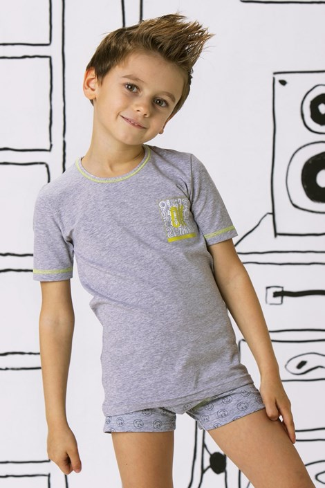 COTONELLA Chlapecké triko OK šedá 10