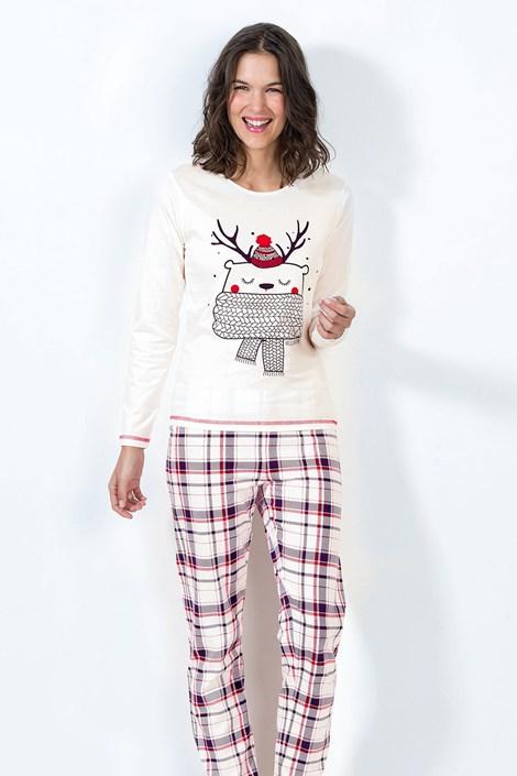 CTM Style Dámské pyžamo Noel ecru XL