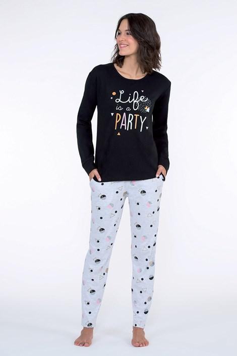 CTM Style Dámské pyžamo Party černé černá M