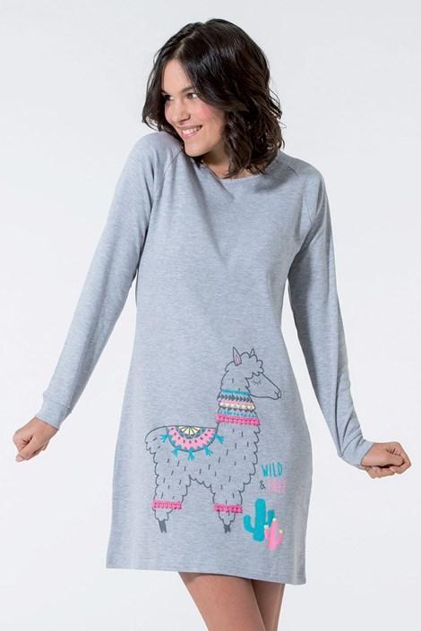 Dodo Dámská noční košile Lama šedá seda S