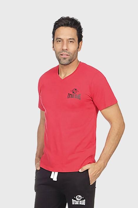 Alan Brown Červené pyžamové tričko Perm červená XXL