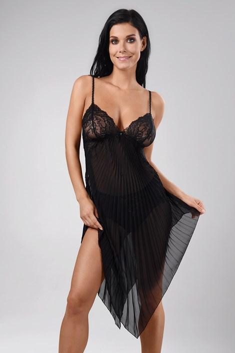 Annebra Luxusní košilka Annebra Chandelier černá L