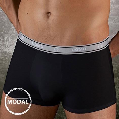 COTONELLA Pánské boxerky Uomo 127B Modal kratší černá M