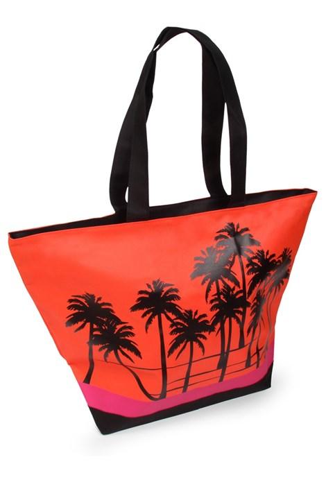 Le Comptoir De La Plage Plážová taška Acapulco Palm červená uni