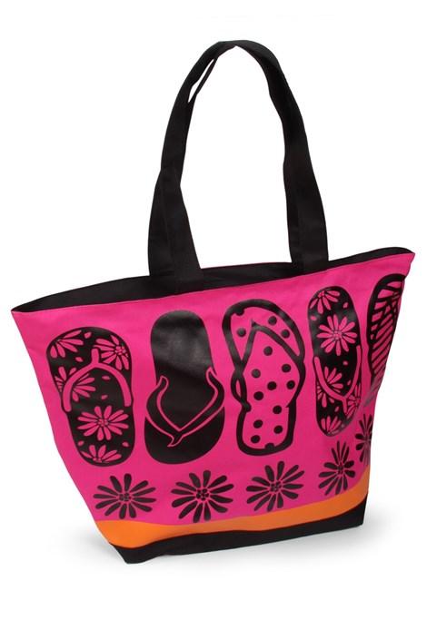 Le Comptoir De La Plage Plážová taška Acapulco Tongues růžová uni