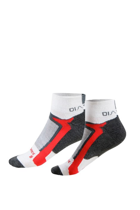 Spaio Sportovní kotníčkové ponožky Active červenobílá 44-46