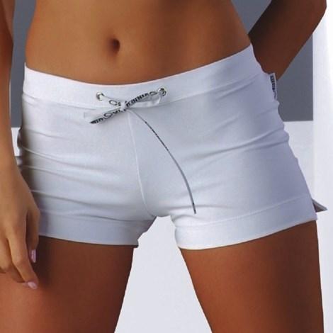 MrsFitness Dámské šortky Adela mikrovlákno bílá XL