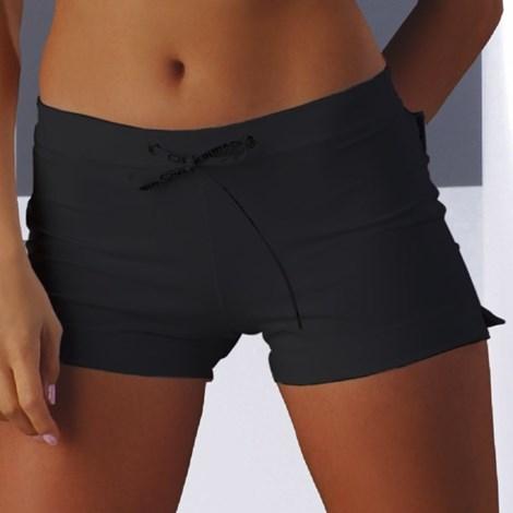 MrsFitness Dámské šortky Adela mikrovlákno černá XL