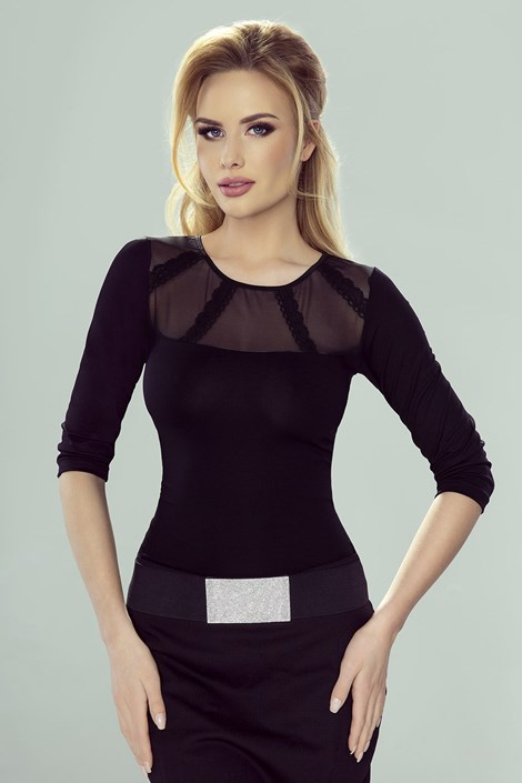 Eldar Dámské elegantní tričko Adelajda černá L