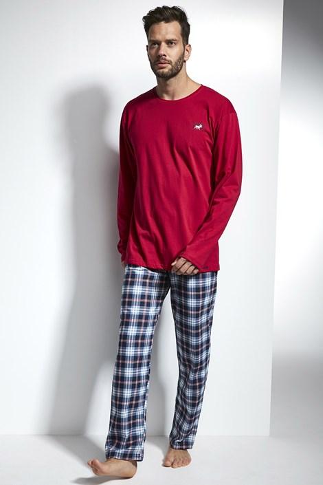 Cornette Pánské pyžamo CORNETTE Alaska 2 červenomodré XXL
