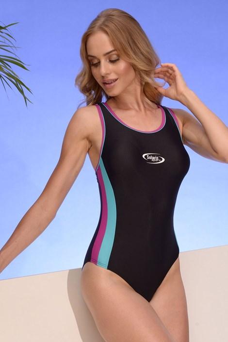 Volin Dámské sportovní jednodílné plavky Alex 04 černorůžová M