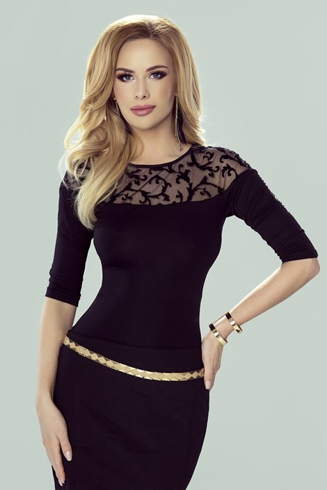 Eldar Dámské elegantní tričko Amanda černá L