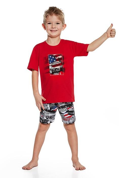 Cornette Chlapecké pyžamo America červenočerná 98/104