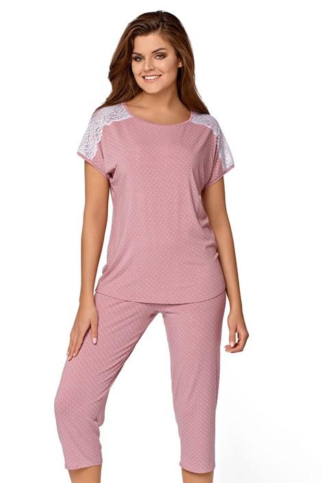 Babella Dámské pyžamo Ana růžová XL