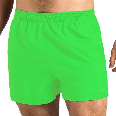 Anpore Pánské koupací šortky ANPORE Neon zelené zelená XXL