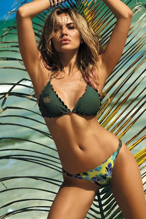 2318c9856b Etna Dámské dvoudílné plavky Barbados Khaki barevná 42