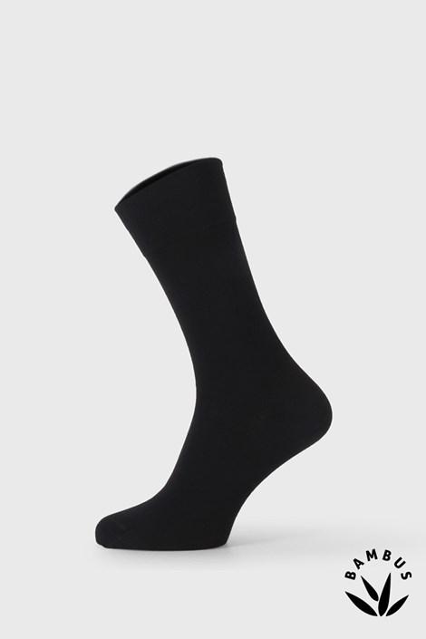 Černé bambusové společenské ponožky Bellinda