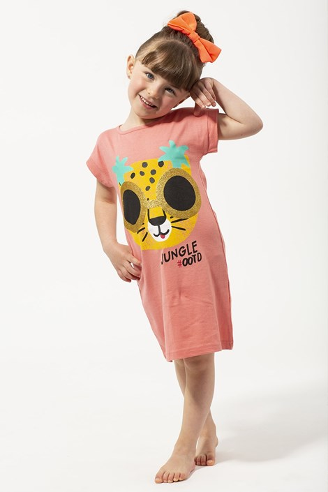 Lina Pink Dívčí noční košile Jungle vícebarevná 5