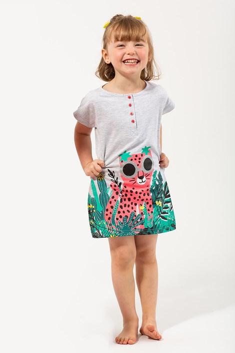 Lina Pink Dívčí noční košile Jungle barevná 5