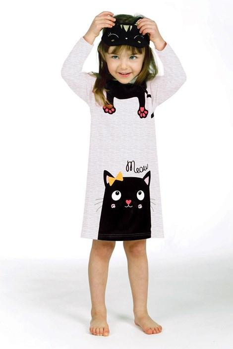 Lina Pink Dívčí pyžamo Lina Pink  Kitty šedočerná 8