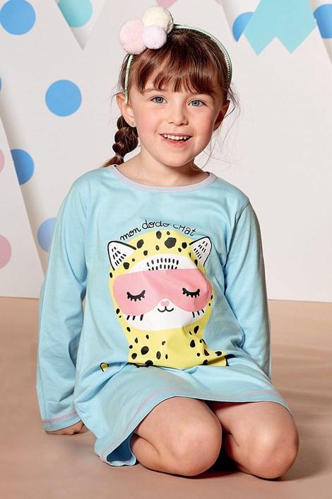 CTM Style Dívčí noční košile Dodo Chat světlemodrá 3